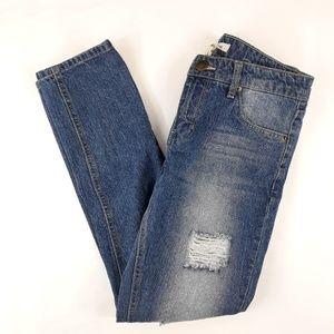 life in progress Jeans - Life in Progress Distressed Skinny Boyfriend Jeans